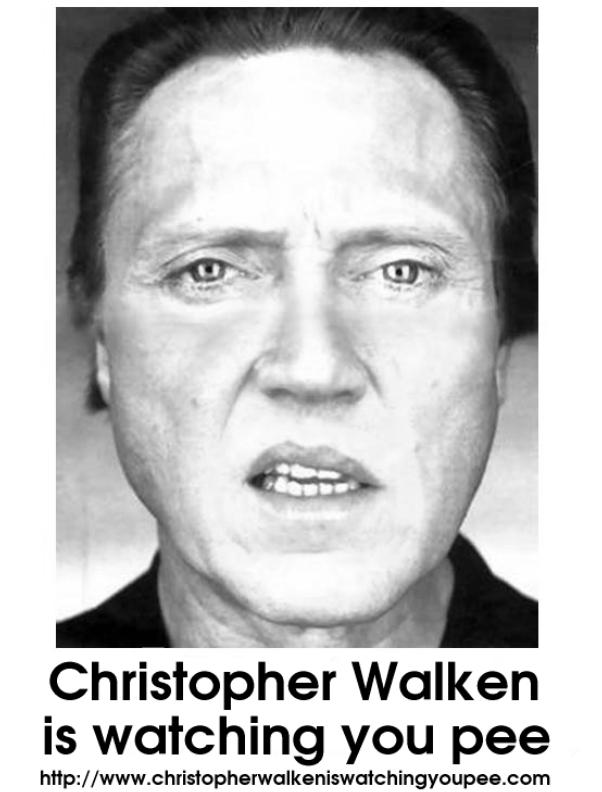 christopher walken is watching you pee